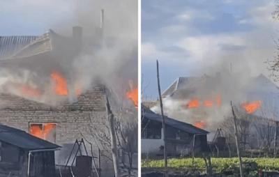 На Львівщині згорів житловий будинок (ФОТО) -